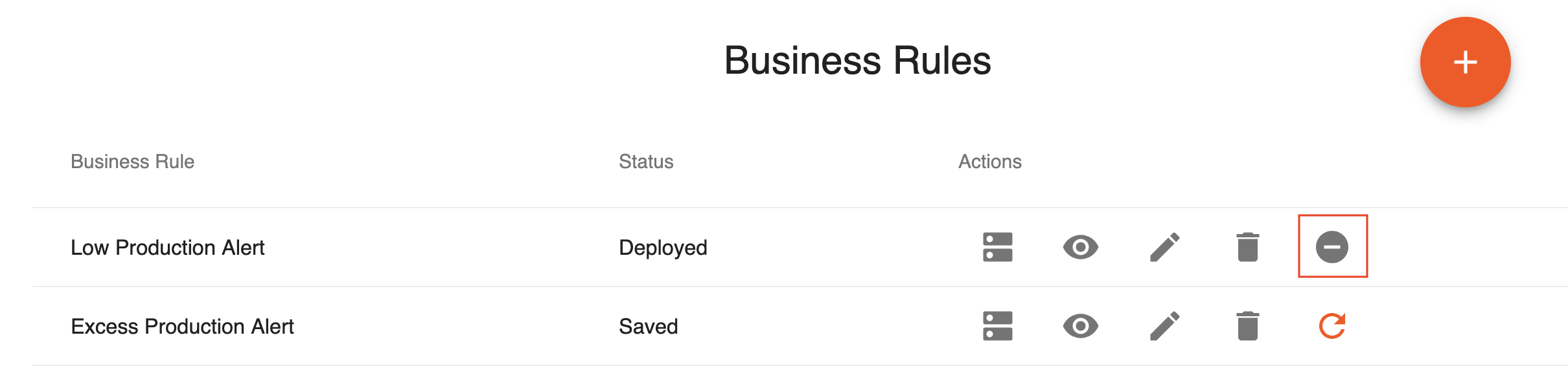 Undeploy Business Rule