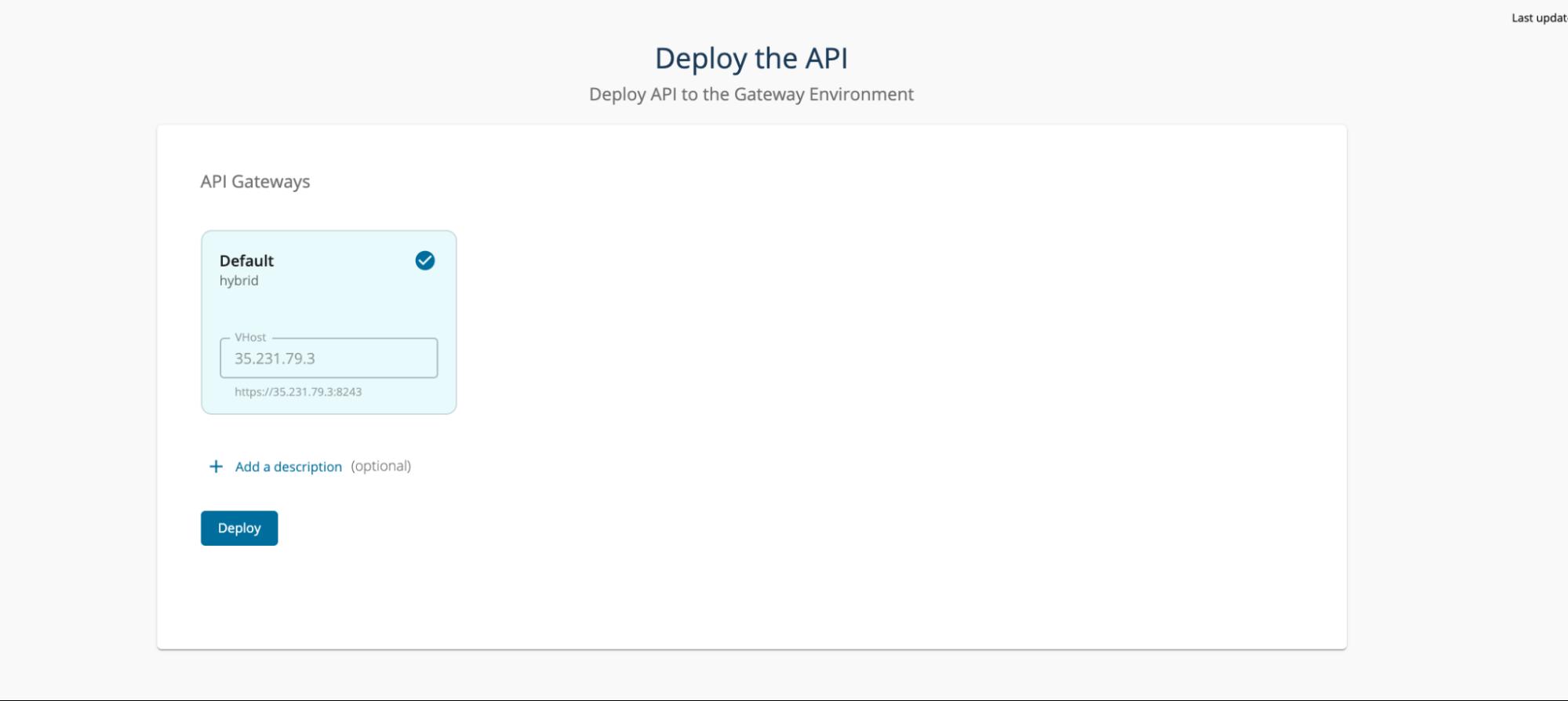 Deploy API