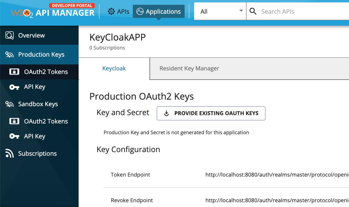 Keycloak application