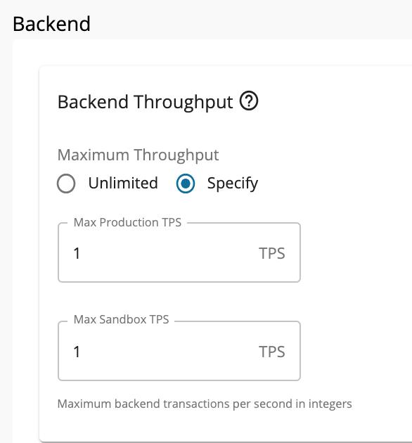 Maximum throughput