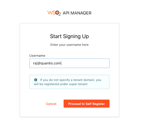 Signup config