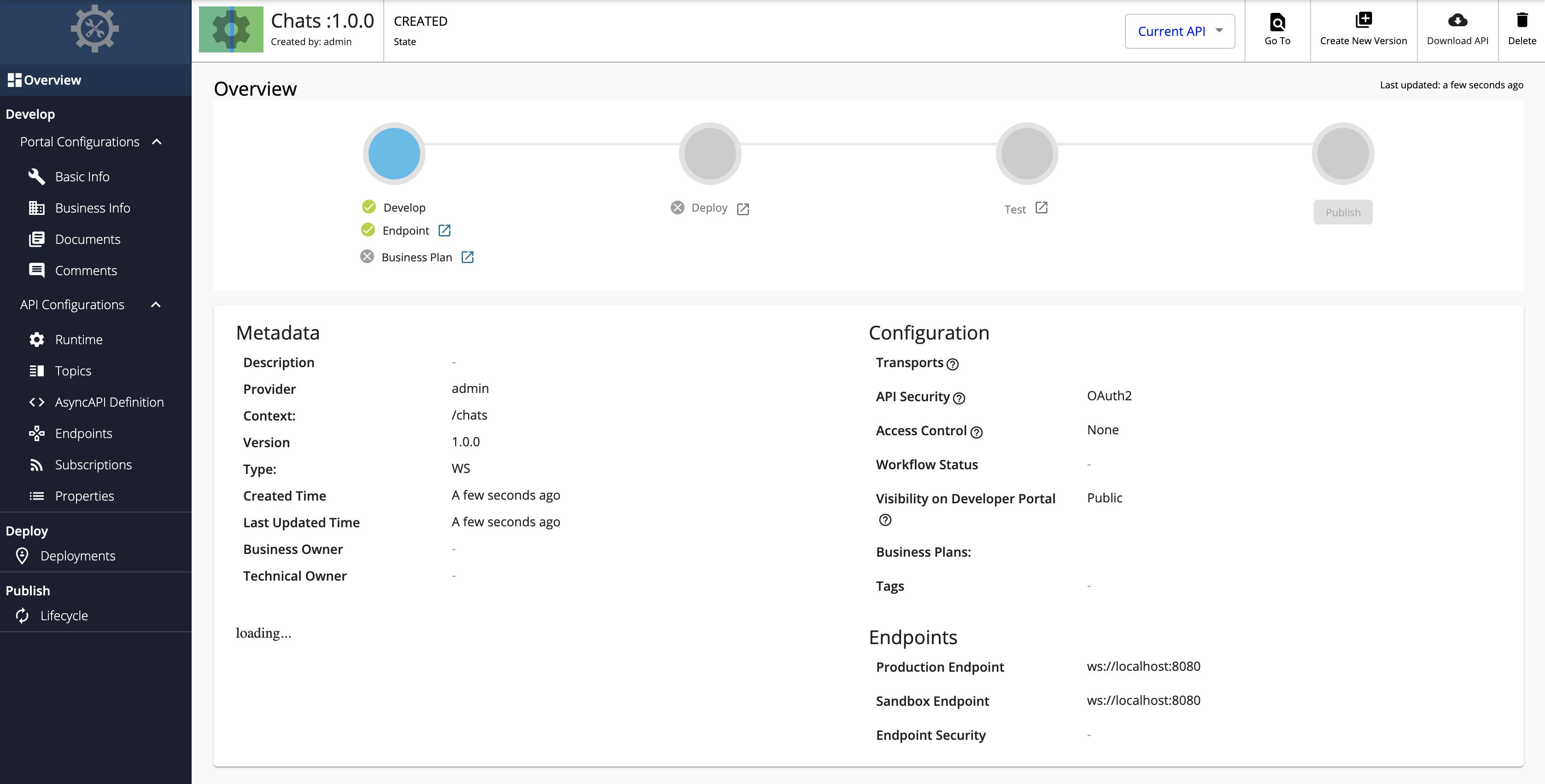 Overview of WebSocket API